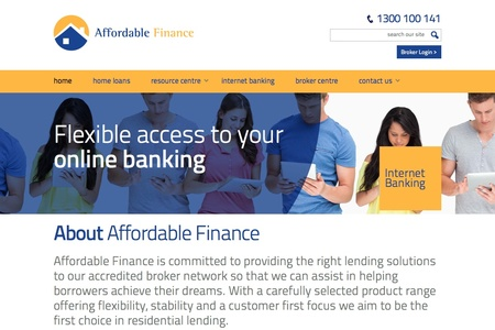 Affordable Finance Home Page