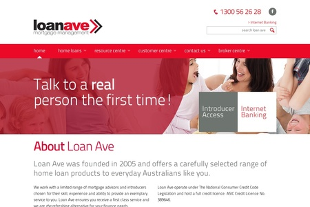 Loan Avenue home page