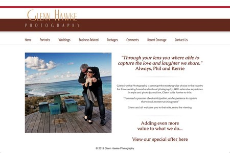 Glenn Hawke Photography Website upgrade