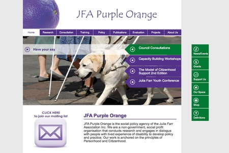Purple Orange home page